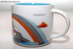 Hawaii - Starbucks You Are Here Mugs Starbucks State Mugs, Starbucks Disney Mugs, Starbucks Coffee, Coffee Love, Coffee Cups, 2 Coffee Tables Pushed Together, Kauai Coffee, Mocha Frappuccino, Cotton Headed Ninny Muggins