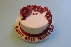 Ruby 40th Wedding Anniversary  Cakes By Jacques | Cakes, Cupcakes and Iced Biscuits Portfolio