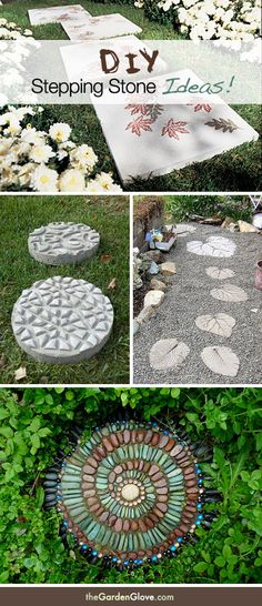 DIY Garden Stepping Stone Ideas & Tutorials!