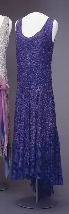 Evening gown, c. 1929, at the National Museum of Art/Museum of Decorative Arts and Design, Oslo. Queen Maud of Norway wore this dress during the wedding celebrations of her son, Crown Prince Olav, in March 1929.