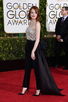 Emma Stone in Lanvin - Golden Globes - Lovely jumpsuit