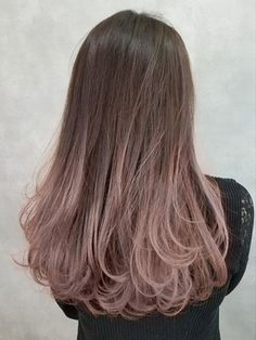 Korean Hair Color Brown, Hair Color Asian, Hair Color Purple, Hair Dye Colors, Lip Colors, Brown Hair Balayage, Hair Highlights, Kpop Hair Color, Cabelo Rose Gold