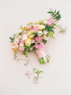 Tulip and Ranunculus Wedding Bouquets