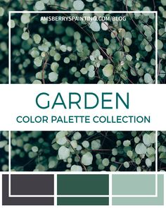 Just in time for spring, our Garden Color Palette Collection takes you on a stroll through the garden. Be inspired by the shades of green and new life! Colors brought to you by Sherwin Williams and images from Unsplash. Neutral Paint Colors, Best Paint Colors, Pantone Colour Palettes, Pantone Color, Color Palette Challenge, Green Colour Palette, Paint Shades, Colorful Garden, Colour Board