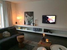 TV meubel op maat, XL kast in wit.Door