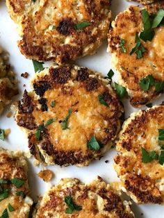 Crispy Parmesan-Crusted Pancakes Are My New Cauliflower Rice Obsession — Real Simple Side Dish Recipes, Vegetable Recipes, Vegetarian Recipes, Cooking Recipes, Healthy Recipes, Cauliflower Recipes, Cauliflower Rice, Rice Pancakes, Parmesan Crusted
