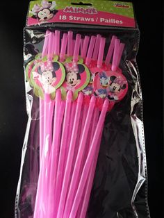 Minnie mouse party straws