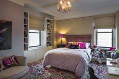 Lucky girl loves Missoni carpet in her bedroom