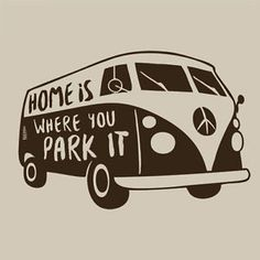 Home-is-Where-You-Park-It-Mens-Funny-T-Shirt-Tee-Van-Bus-VW-Hippie-Travel