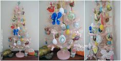 Easter Egg Crafts: A Pink Feather Tree Decorated For Easter