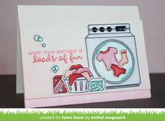 the Lawn Fawn blog: Loads of Fun card by Nichol Magouirk.