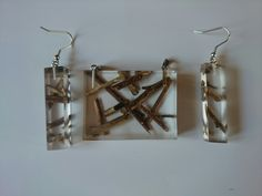 Diy Holz, Resins, Epoxy, Hair Accessories, Drop Earrings, Projects, Jewelry, Log Projects, Blue Prints