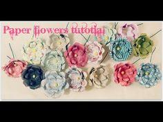 Paper flowers tutorial 6-16-15
