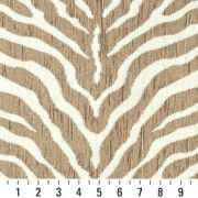 Beige Zebra Pattern Textured Woven Chenille Upholstery Fabric By The Yard