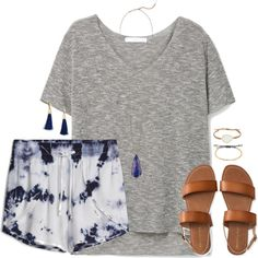 A fashion look from June 2016 featuring MANGO t-shirts, Aéropostale sandals and Kendra Scott necklaces. Browse and shop related looks.