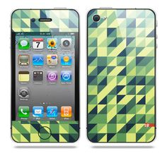 Semipixel Green iPhone skin by TAJTr