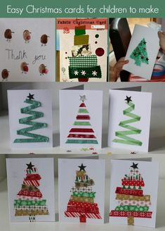 Image result for easy christmas cards