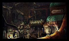 Steampunk town by ~Jamienobes on deviantART
