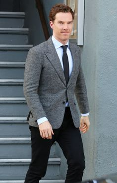 Benedict Cumberbatch leaving the studio in Hollywood, 15th November, 2014