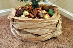 Cleverly Inspired | Kraft paper tree skirt
