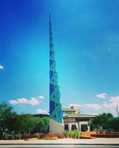 #FrankLloydWrightSpire #art #artwork #sculpture #design #architectural #Scottsdale #Arizona