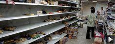 """Quem foi que disse que não há tecnologia no socialismo? A """"fartura"""" em um supermercado venezuelano. Para aqueles críticos do socialismo em sua vertente moderna do século 21, que alegam se tratar do mesmo fracasso de antes, vejam que coisa incrível: a Venezuela de Maduro, o companheiro do PT, inovou! Agora há claros avanços tecnológicos no país, de deixar a Wal-Mart de queixo caído com todos os seus bilhões investidos na área só para lucrar mais."""