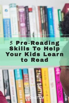 5 Reading skills to develop before you child starts learning to read. Pre Reading Strategies, Reading Skills, Coding For Kids, Librarians, Learn To Read, Language Arts, Kids Learning, Art Lessons, Curriculum