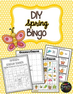 St patricks day diy bingo game do it yourself bingo games spring diy bingo game do it yourself solutioingenieria Image collections
