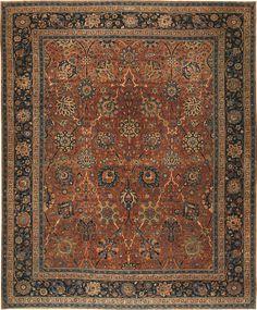 Antique Kerman Persian Rug 42465 Main Image - By Nazmiyal