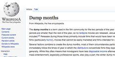 Film releasing: Dump Months