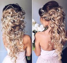 Cool 57 Beautiful Wedding Hairstyles Ideas For Curly Hair. More at https://trendwear4you.com/2018/03/18/57-beautiful-wedding-hairstyles-ideas-for-curly-hair/