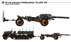 German 150mm SFH18 - Heavy Field Artillery