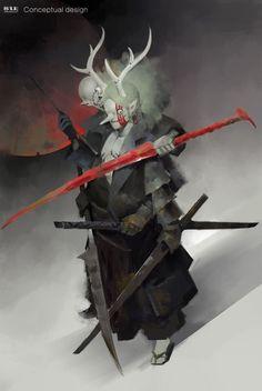 ArtStation - The Deer God, zhihui Su