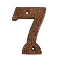 3 inch Iron Metal House Numbers. Number 7 in Rustic Country finish #8317RST75