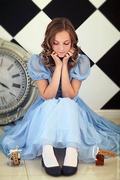 Alice in Wonderland, chiffon dress – shop online on Livemaster with shipping Cosplay Alice In Wonderland, Alice In Wonderland Pictures, Alice Cosplay, Wonderland Costumes, Cute Cosplay, Cosplay Dress, Alice In Wonderland Photography, Punk Disney Princesses, Princess Disney