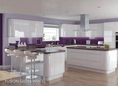 light grey gloss kitchen - Google Search