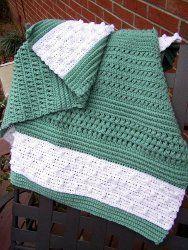 Crocheted Textured Reversible Lap Blanket | AllFreeCrochet.com