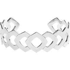 Vélizance Laurus Aztec Open Openwork Silver Bracelet ($167) ❤ liked on Polyvore featuring jewelry, bracelets, silver, boho chic jewelry, engraved bangle, 18k bangle, bohemian style jewelry and engraved jewelry