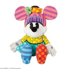 Disney by Britto Minnie Mouse Britto Plush Soft Toy: Romero Britto Enesco 4037564 #FineGifts #DisneybyBrittoPlushSoftToysFigurines