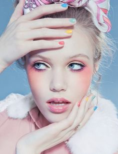 Cotton candy make up at http://www.luvtolook.net/2013/05/cotton-candy-make-up.html