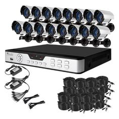 Zmodo 16CH H.264 Security DVR System With 16 Sony Color CCD IR Outdoor Surveillance Cameras System No Hard Drive by ZMODO. $573.99. Overview This kit KDH6-NASCZ6ZN includes a 16 CH H.264 DVR and 16 Sony Color CCD IR outdoor security cameras allowing you to monitor your home or office around the clock.  This DVR is one of the latest 16 CHs featuring advanced security functions. With the capacity to record from 16 cameras, it is highly recommend for businesses. It...