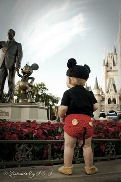 Mickey Mouse Hat and Diaper cover and Feet by LadyHudd on Etsy, $38.00