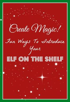 Elf on the Shelf letter printable in case you'd like to print it out to use as a template when writing your own letter to introduce your Elf on the Shelf.