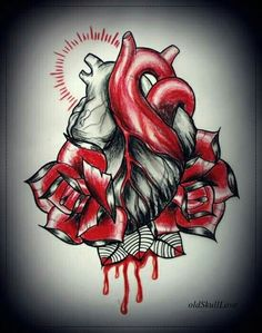 bleeding heart with rose tattoo flash outline by oldskulllovebymw love tattoo outlines. Black Bedroom Furniture Sets. Home Design Ideas