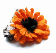 Felt Flower Brooch   Hand Felted Brooch Wool  Felt by albado, $24.00