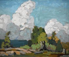 Casson - Muskoka 9 x 11 Oil on panel Oil, Painting, Inspiration, Biblical Inspiration, Painting Art, Paintings, Drawings, Inhalation, Butter