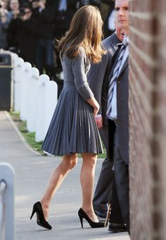 Kate Middleton - I love how the majority of her outfits are fitted at the top and full of movement at the bottom.