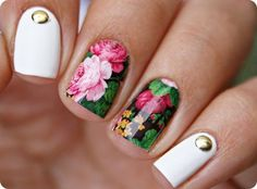 Flower Water Nail Decals