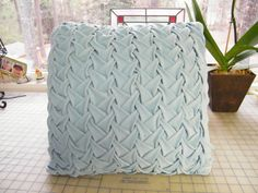 Lattice Smocked Pillow