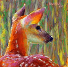 """Cadence (and 2 short-notice Mini-Workshops!)"" original fine art by Rita Kirkman Oil Pastel Art, Pastel Drawing, Painting & Drawing, Chalk Pastel Art, Art And Illustration, Paintings I Love, Animal Paintings, Deer Art, Fine Art Auctions"